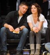 Nov 24, 2010 - Danneel Harris and Jensen Ackles at Lakers Game in Los Angeles 8d4404108348236